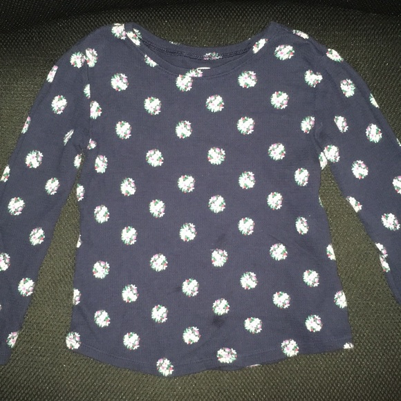 4T Blue White Polka Dots Old Navy long Sleeve Button Up shirt with Tie 2T 3T